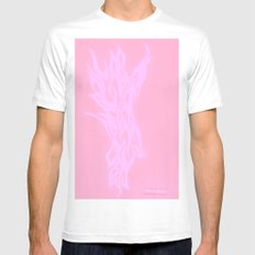 pink fire Mens Fitted Tee MEDIUM White