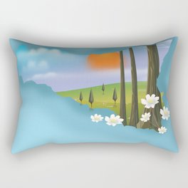 Sicily Travel poster. Rectangular Pillow