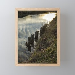 Old Dock Supports Along the Canal Bank - No 2 Framed Mini Art Print
