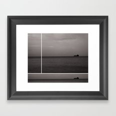 On The Horizon Framed Art Print