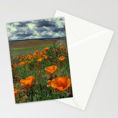Poppies and Clouds Stationery Cards