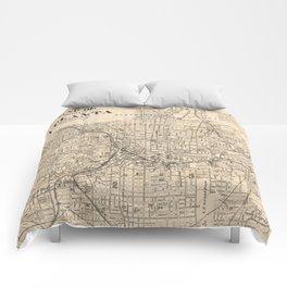 1906 Map of Atlanta, GA Comforters