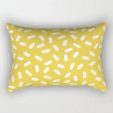 Somethin' Somethin' - yellow bright happy sprinkles pills dash pattern rad minimal prints Rectangular Pillow