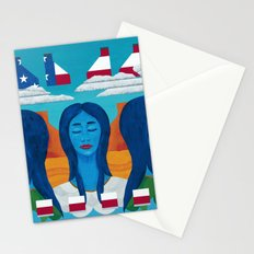 Blue Women Stationery Cards