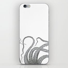 Vintage kraken octopus tentacles nautical antique sea creature steampunk graphic print iPhone Skin