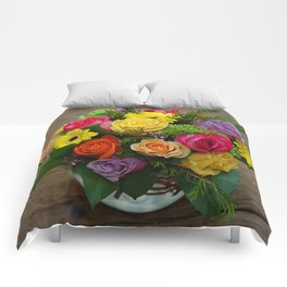 A Touch of Elegance Floral Arrangement Comforters