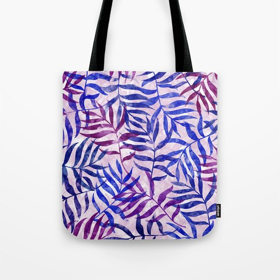 Watercolor Tropical Palm Leaves II Tote Bag