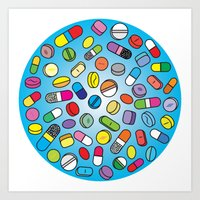 Drugs N Pills Art Print