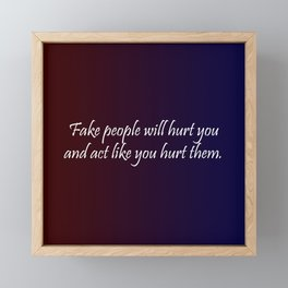 Fake People Framed Mini Art Print