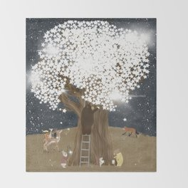the starlight tree Throw Blanket