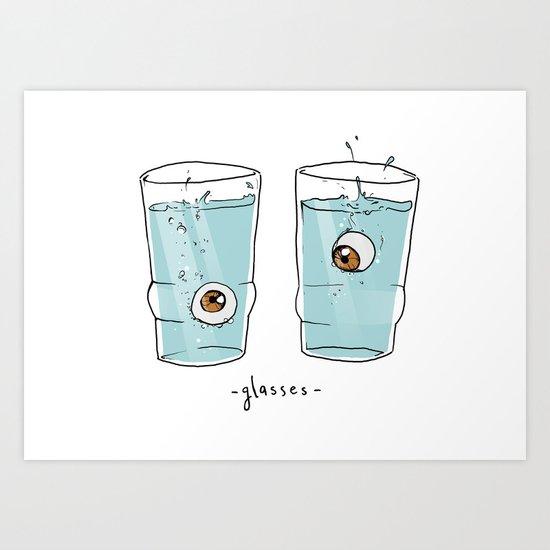 Glasses Art Print