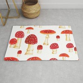 Poison Mushrooms in Spring Rug