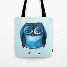 Blue Owl Boy Tote Bag