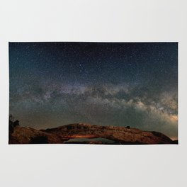 Starry Night Over Mesa Arch Rug