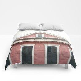 Pink House in Nola Comforters