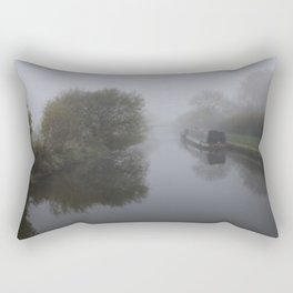 Moored in the mist Rectangular Pillow