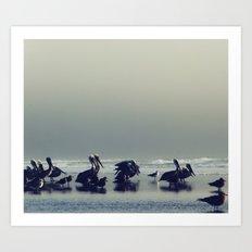 Birds Walking on Water Art Print
