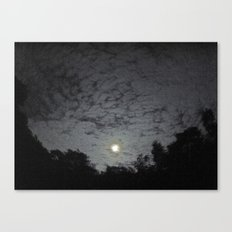 Supermoon with Clouds Canvas Print