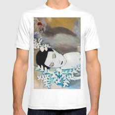 Dreaming MEDIUM White Mens Fitted Tee