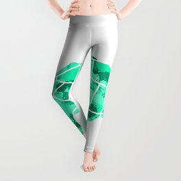 Sulcata Tortoise Silhouette (green) Leggings