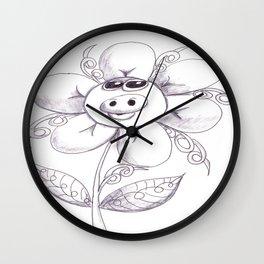 Pig flower Wall Clock
