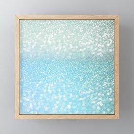 Mermaid Sea Foam Ocean Ombre Glitter Framed Mini Art Print