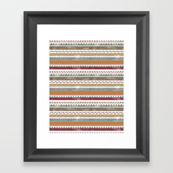 AZTEC STRIPES Framed Art Print