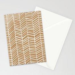 Kraft Herringbone Stationery Cards