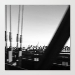 Manhattan Through the Bridge Canvas Print