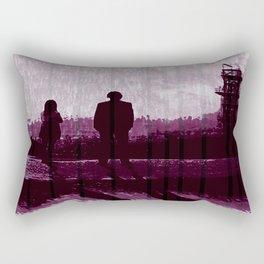 Watching the Refinery Rectangular Pillow