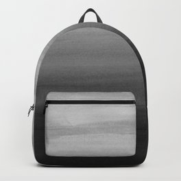 Touching Black Gray White Watercolor Abstract #1 #painting #decor #art #society6 Backpack