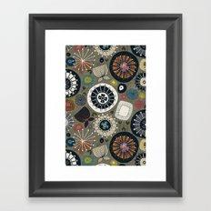 blooms moss Framed Art Print