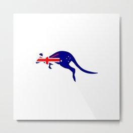 Australian Flag on Kangaroo Metal Print