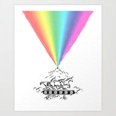 Creating magic Art Print