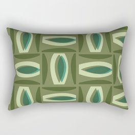Alcedo - Green Rectangular Pillow