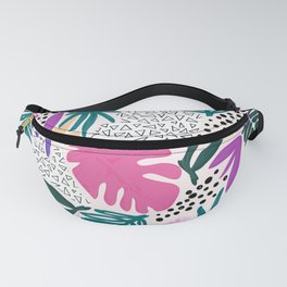 Tropical Colourful Collage Pattern Fanny Pack