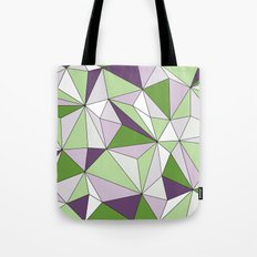 Geo - green, purple, gray and white. Tote Bag