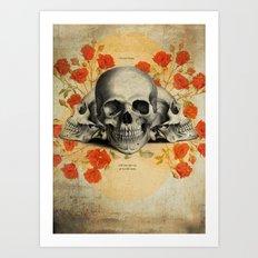 I Became Insane... Edgar Allan Poe Skull Print Art Print
