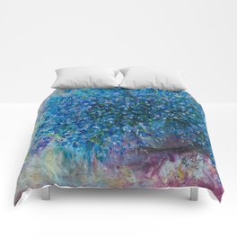 Bouquet Of Forget Me Nots by Lena Owens Comforters