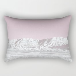 Mojave Snowcaps // Las Vegas Nevada Snowstorm in the Red Rock Canyon Desert Landscape Photograph Rectangular Pillow