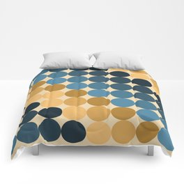 Cirque Pattern in Ochres and Blues Comforters