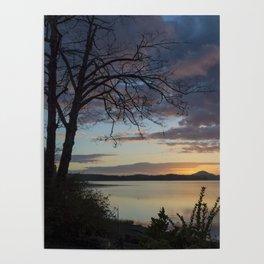 Lake Quinault Sunset, Washington Poster
