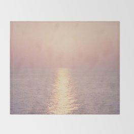 cashmere rose sunset Throw Blanket