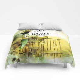 Life is better in Cowboy Boots Cowgirl Comforters