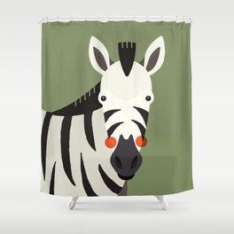 Zebra, Animal Portrait Shower Curtain
