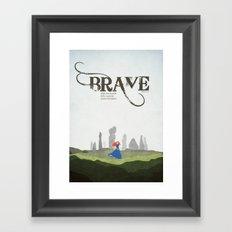 Brave - minimal poster Framed Art Print