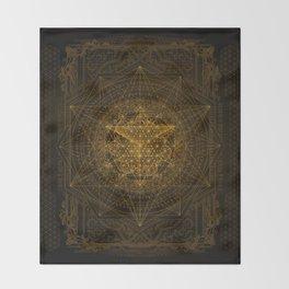 Dark Matter - Gold - By Aeonic Art Throw Blanket