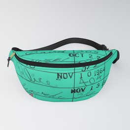 LIbrary Card 23322 Turquoise Fanny Pack