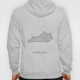 Kentucky map Hoody