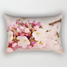 cherry blossoms with typography Rectangular Pillow